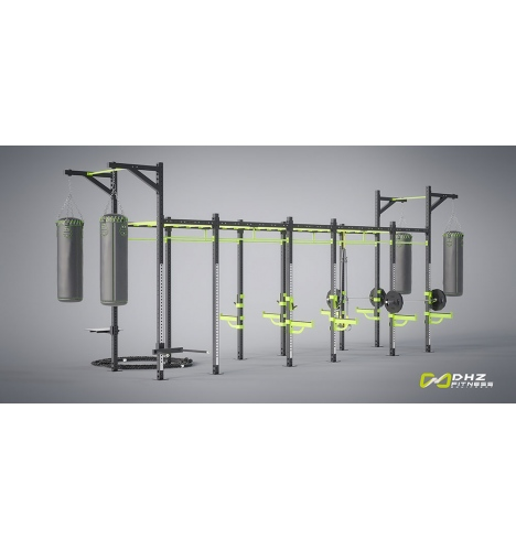 dhz fitness dhz cross rack power tower 4393