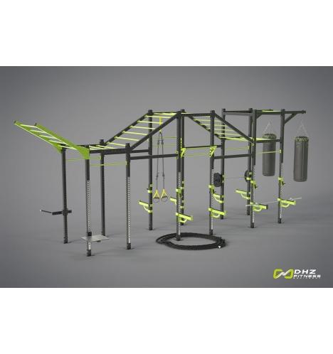 dhz fitness dhz cross rack super tower 4387