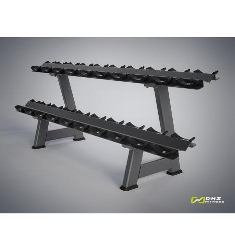 dhz fitness dhz evost i double dumbbell rack 4307