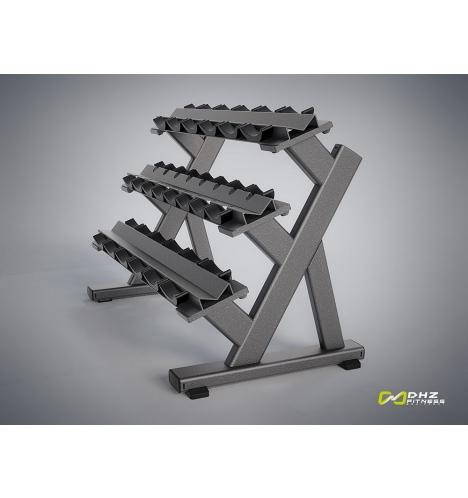 dhz fitness dhz evost i triple dumbbell rack 4310