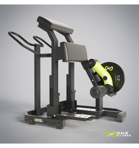 dhz fitness dhz plate loaded leg curl 3805