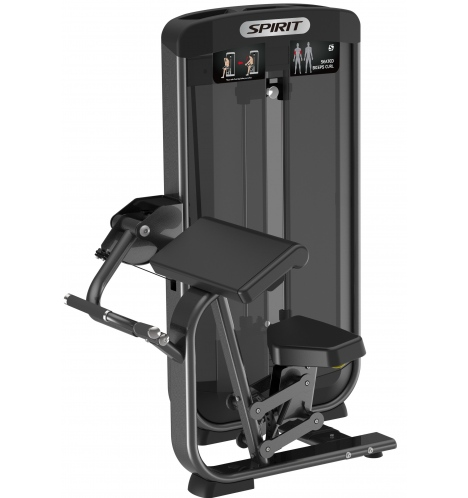 spirit styrkemaskiner spirit seated biceps curl 6629
