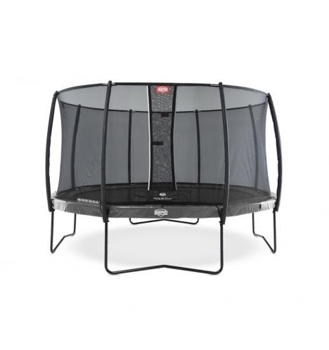 trampoliner paa ben berg elite 430 graa inkl deluxe sikkerhedsnet 8175