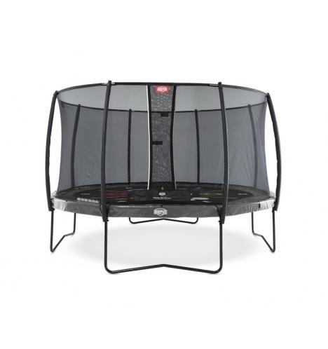 trampoliner paa ben berg elite 430 graa levels inkl deluxe sikkerhedsnet 8176