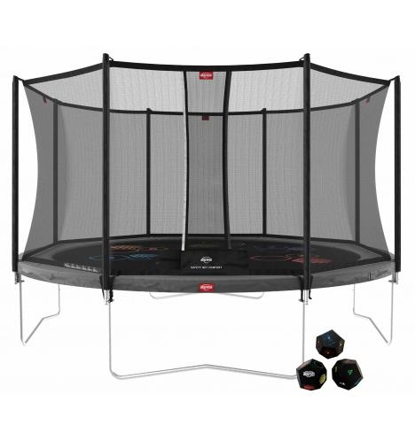 trampoliner paa ben berg favorit 430 graa levels inkl comfort sikkerhedsnet 8228