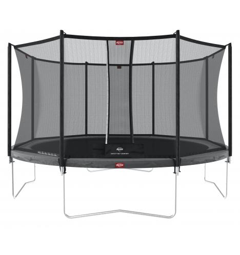 trampoliner paa ben berg favorit trampolin 430 graa inkl sikkerhedsnet 1134 8227