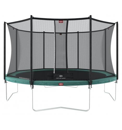 trampoliner paa ben berg favorit trampolin 430 inkl sikkerhedsnet 8226