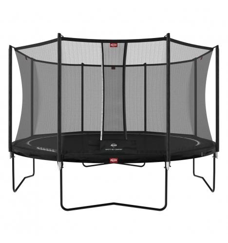 trampoliner paa ben berg favorit trampolin 430 sort inkl sikkerhedsnet 1134 9074