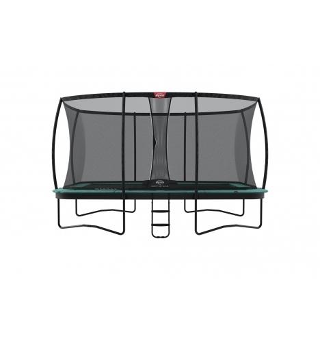 trampoliner paa ben berg ultim champion 410 groen inkl deluxe sikkerhedsnet 8118