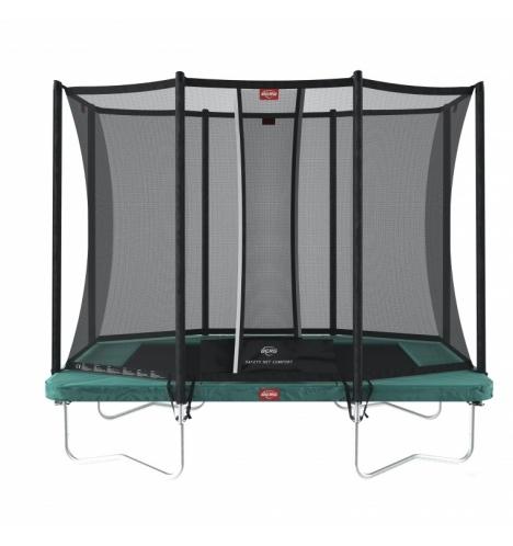 trampoliner paa ben berg ultim favorit 280 groen inkl sikkerhedsnet comfort 8192