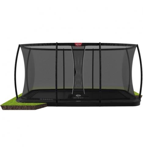 trampoliner til nedgravning BERG Ultim Elite FlatGround 500 Sort inkl sikkerhedsnet Deluxe XL 9290