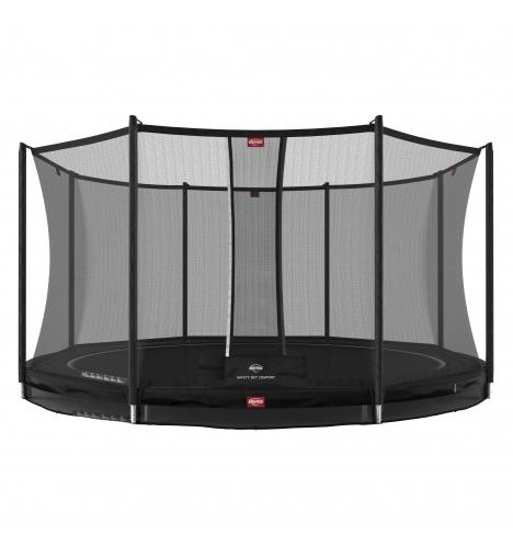 trampoliner til nedgravning berg favorit 430 inground sort inkl sikkerhedsnet comfort 9093