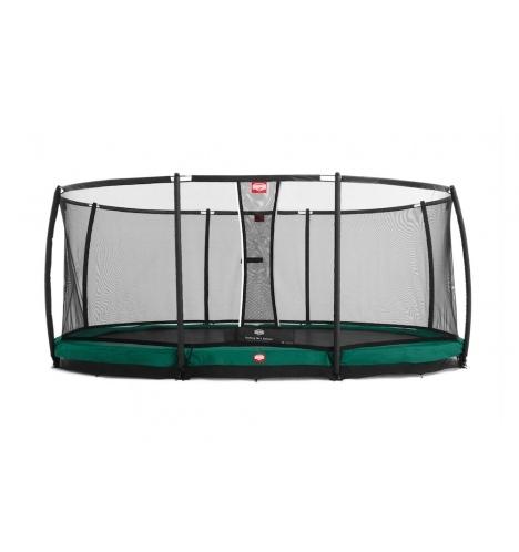 trampoliner til nedgravning berg grand champion 470 inground groen inkl sikkerhedsnet 8137