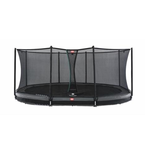 trampoliner til nedgravning berg grand favorit 520 inground graa inkl sikkerhedsnet 6206