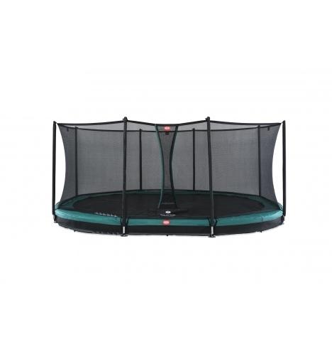 trampoliner til nedgravning berg grand favorit 520 inground groen inkl sikkerhedsnet comfort 8124