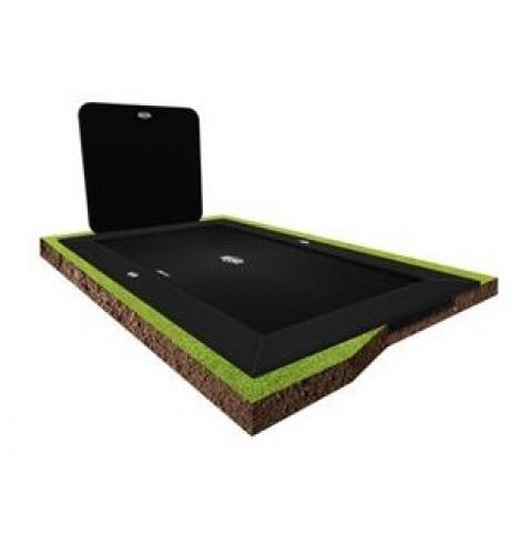 trampoliner til nedgravning berg ultim elite flatground 500 graa inkl aerowall sort 8115