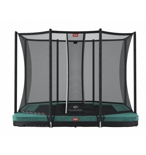 trampoliner til nedgravning berg ultim favorit 280 inground groen inkl sikkerhedsnet comfort 8190