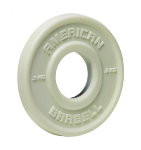 vaegteskiver american barbell 05 kg urethane fractional skivevaegt 3846