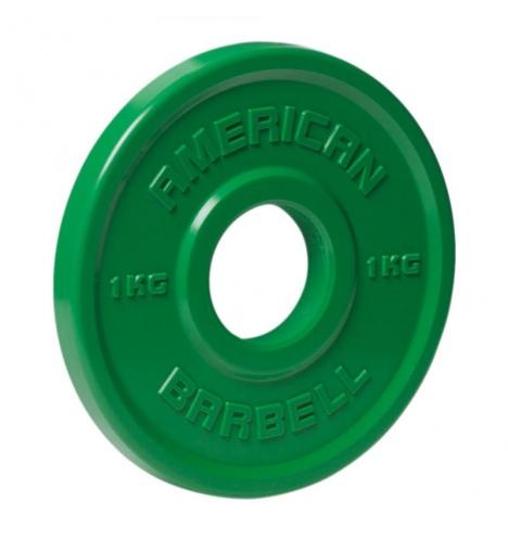 vaegteskiver american barbell 1 kg urethane fractional skivevaegt 3849