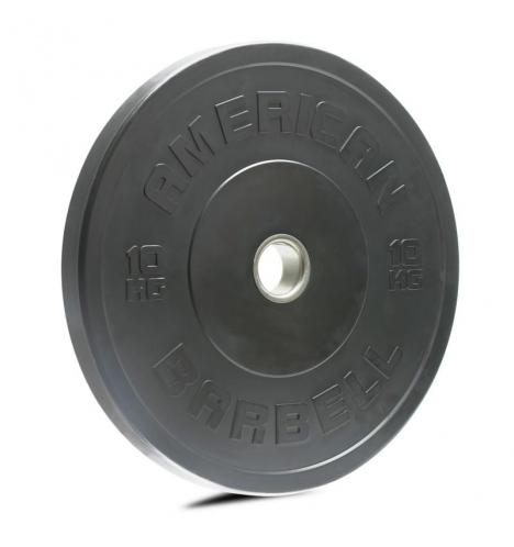 vaegteskiver american barbell 10 kg sort bumper vaegtskive 3839