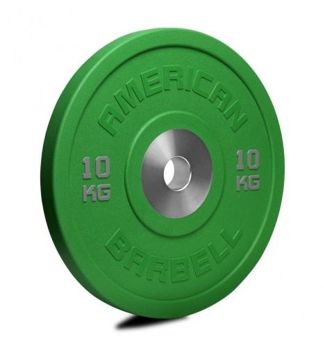 vaegteskiver american barbell 10 kg urethane pro serie bumper plate 3778
