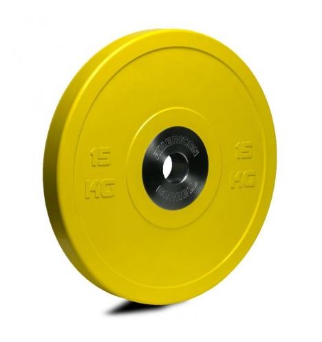 vaegteskiver american barbell 15 kg pro bumper skive 3833