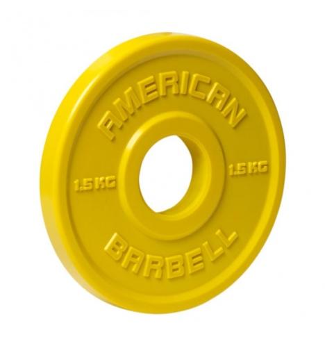 vaegteskiver american barbell 15 kg urethane fractional skivevaegt 3852