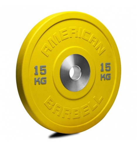 vaegteskiver american barbell 15 kg urethane pro serie bumper plate 3779