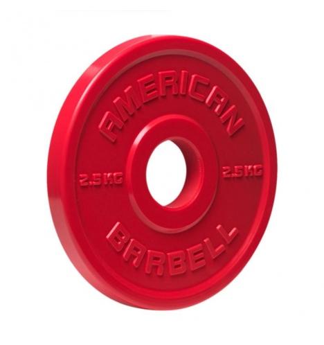 vaegteskiver american barbell 2 5 kg urethane fractional skivevaegt 3858