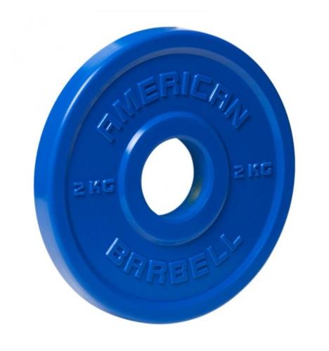 vaegteskiver american barbell 2 kg urethane fractional skivevaegt 3855