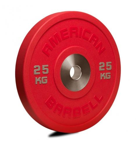 vaegteskiver american barbell 25 kg urethane pro serie bumper plate 3781