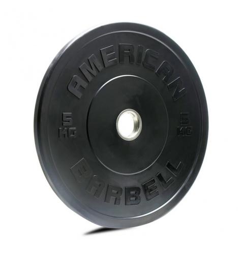 vaegteskiver american barbell 5 kg sort bumper vaegtskive 3836