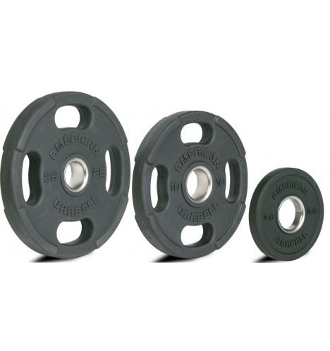 vaegteskiver american barbell olympic rubber plates 8725